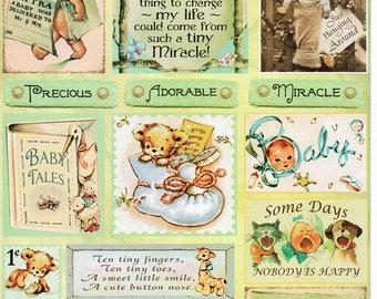 Baby Land Heartwarming Vintage Cuts Crafty Secrets Scrapbook Embellishments Card Making