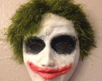 Hand sculpted Joker mask