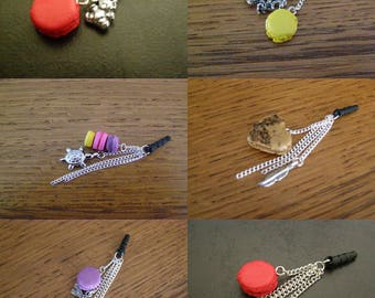 to choose from, plug, dust cover, wearable jewelry, macaroon
