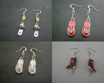 pair of dangle earrings, chaurrure, boot choice
