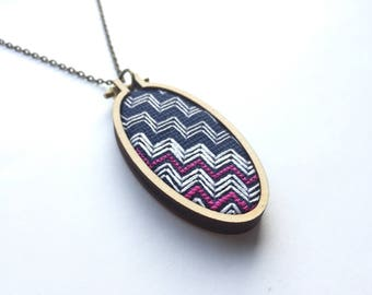 """Embroidered Necklace 