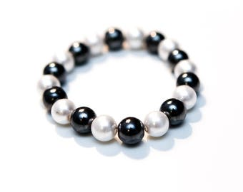 Hematite, Pearl Beaded Jewelry Set
