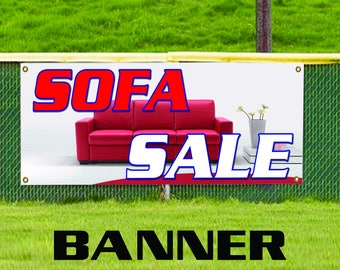 Sofa Sale Furniture Leather Couch Banner Sign Retail Store Vinyl Banner Sign
