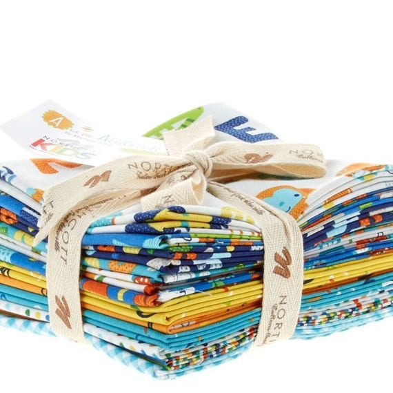 A is for alligator fat quarter bundle by michele scott for for Childrens fabric bundles