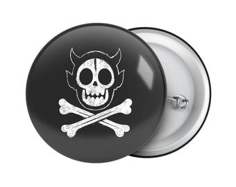 "Pirate Flag 1.25"" Pin"