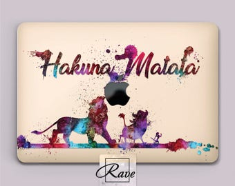 Disney Hakuna Matata MacBook air 13 case MacBook 2017 cover laptop 15 inch Watercolor case a1708 MacBook pro 2016 clear case MacBook 12 hard