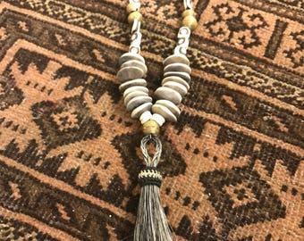 Horse Hair Tassel necklace