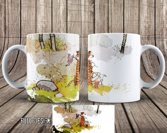 Calvin and Hobbes Forest Mug, COLOR CHANGING MUG, Cartoon Coffee Mug, Calvin Hobbes Coffee Cup, Funny Geek Christmas Gift SN032