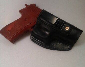 SIG P229 IWB handmade leather holster, made in the USA.