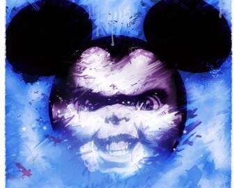Chucky Mouse Mickey, Disney, imprimable, dessin, peinture, décoration, enfant, tableau, illustration, print, chucky