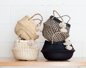 Mini Xinh Basket with Wool Tassel