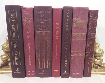 Red Decorative Book Set