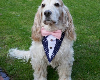 Dog Tuxedo Bow Tie Neckerchief - Wedding