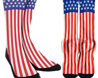 American Flag USA Vol. 3 Crew Socks - USA Socks - American Flag Socks - Novelty Socks - 100% Comfort - FREE Shipping