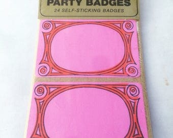 vintage 1960s Dymo name tags/party badges