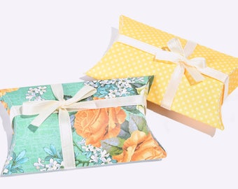 Yellow Rose Pillow Boxes, Set of 12