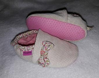 Baby velvet slippers slip resistant 6-12months