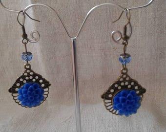 """Earrings """"blue flower"""""""