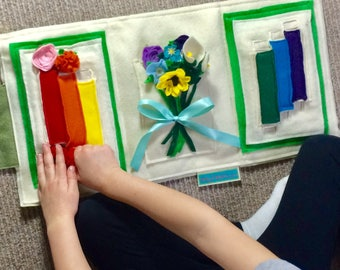 Flower Arranging Quiet Book - Montessori Style Educational Toys for Toddlers and Preschooler - Best Gift Idea for Girls