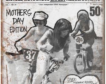 "1976 BX Bi Weekly RARE vintage BMX Magazine 10"" x 7"" reproduction metal sign B92"