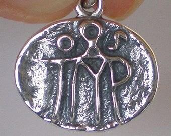 Byzantine Sterling Silver Monogram Pendant - Byzantio