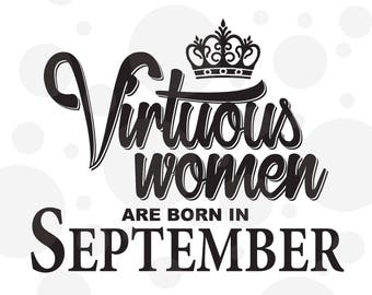Virtuous women svg, Birthday svg,