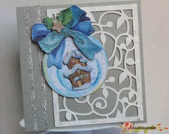 3D postcard, hand made, for a special event, greeting card