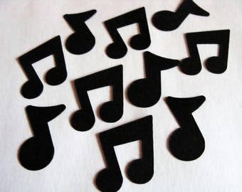 Music Notes Confetti, Birthday Party Decorations, Music Theme Party Decor, Music Note Table Scatter, Black Music Note Party, Music  Confetti