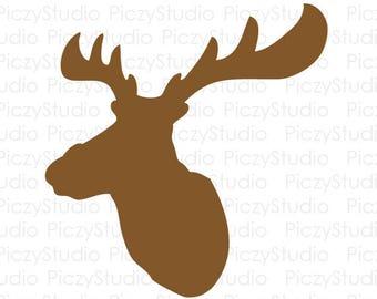 80% OFF Sale Christmas Svg, Deer Head Svg, Deer Svg, Reindeer Svg, Svg Files, Christmas Vector, Christmas Reindeer, Instant Download