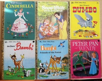 Little Golden Books Walt Disney Set of 6