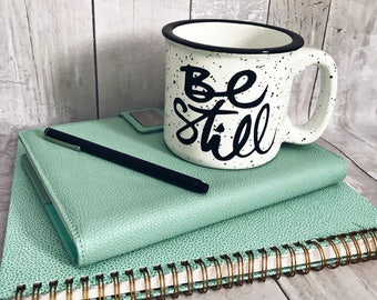 Be Still / Be Still And Know / Campfire Mug / Stoneware Mug / Fall Mug / Winter Mug / Coffee Mug