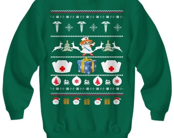 Nurses Ugly Sweater For Christmas Party