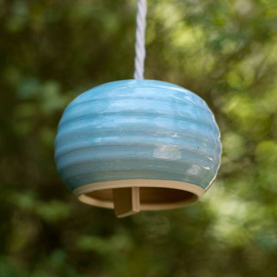 Handmade Large Round Ceramic Bell Wind Chime Ready To Ship