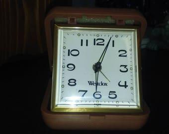 Westclox Miniature / Travel Alarm Clock 1950s/ 1960s Vintage Tested
