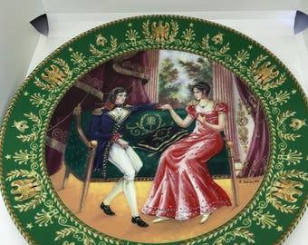 Vintage Limited Edition D'arceau-Limoges Plate D'arceau-Limoges Plate. Vintage. Very good condition. 'La Rencontre' featuring Joséphine et N