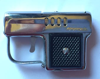 Vintage 1960s Corona Pistol Gun Lighter Chrome
