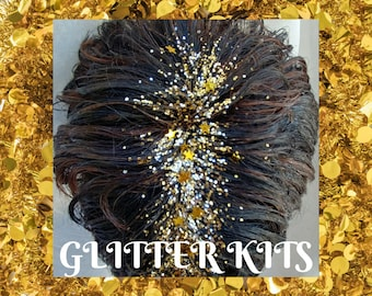 Glitter Hair Kits - Color Options Available