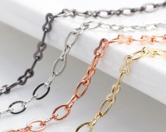 5pcs 4colors Chain Infinity Cable Chain Charms,Floating Locket Chain fit Floating Locket Pendant Necklace Jewelry