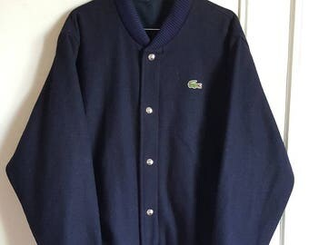 Jacket summer 100% wool Lacoste Vintage years 80-90 Made in France size L like new Rare.