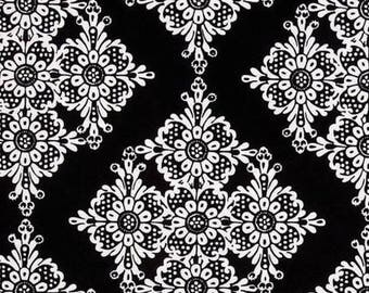 black and white patchwork Linda Lace Michael MILLER fabric