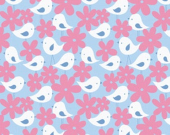 Fabric PATCHWORK pink and blue kids GET TOGETHER FREE SPIRIT