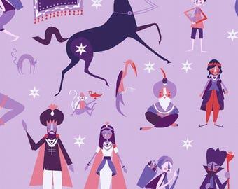 Purple patchwork 1001 fabric peeps for Andover Fabrics.