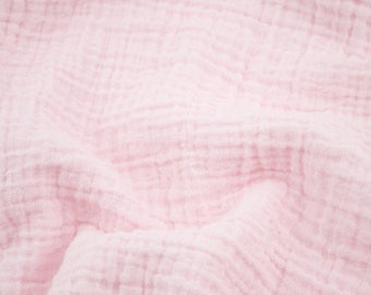 """5 yards Ballet Pink - Sunny Double Gauze Fabric - 100% cotton muslin swaddle fabric, 52"""" wide"""