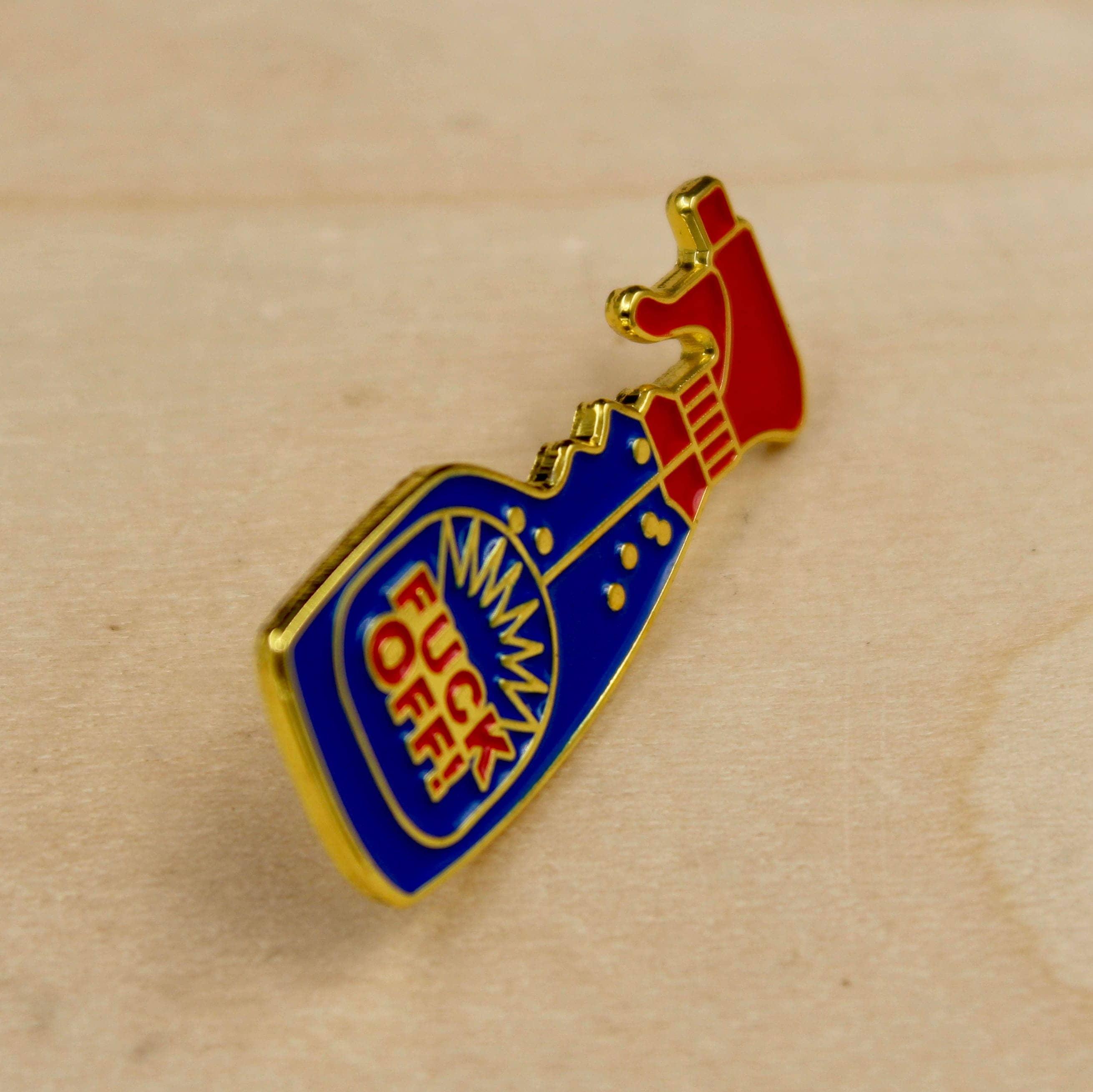 FUCK OFF PIN: Enamel Pin, Handmade, Fuck-You, Lapel Pin, Funny Pins