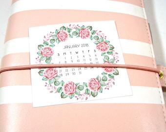 Planner Die Cut Calendars - TN Calendars - Planner Calendars - Floral Die Cuts - Planner Die Cut - Wreaths - Calendar