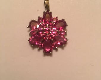 Beautiful 35ct Pink Tourmaline Clustet Pendent