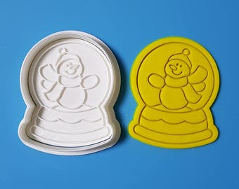 Snow Globe - Snowman Cookie Cutter and Stamp