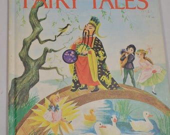 Hans Christian Andersen's Fairy Tales 1976 Grosset Grow-Up Vintage Color Story Picture Nursery Rhyme Book