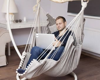 Hammock chair for home and garden, for interior decor and relax.