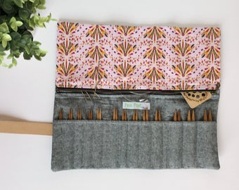 Knitting Needle Case for Interchangeable Needles/Needle Case/Knitting Needle Case/Organizer: Made To order